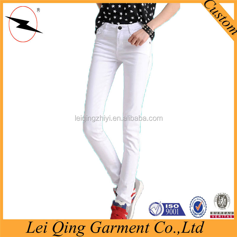 Solid color straight-legs women cheap khaki pant
