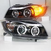 For BMW E90 318i 320i 325i LED Angel Eyes head Lamp with projector lens 2005 - 2010 year SN