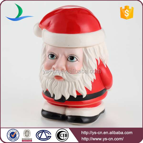 Creative christmas old man canister for cute children top decoration