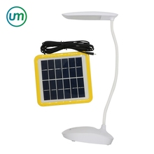 6W Solar Powered LED Desk Lamp Adjustable Touch Sensor Reading Light with USB Cable Outdoor Camping Lighting Study Desk Lamp