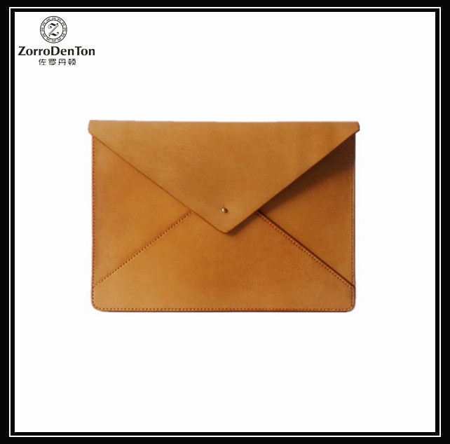 Vegetable Tanned Leather Under-Arm Meeting A4 Document Clutch Bag A4 File Holder