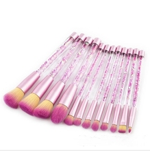 Hot sale of 12 quicksand makeup covers, blush <strong>brush</strong>, eye shadow <strong>brush</strong>.