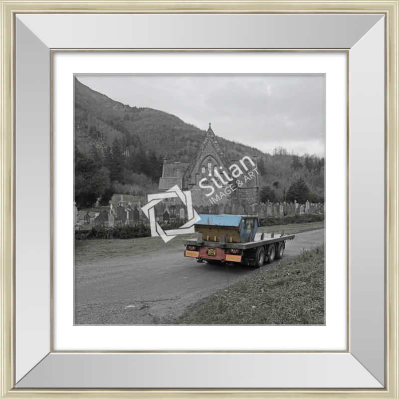 Modern black and white landscape photography art mirror glass painting frame photo with hotel artwork