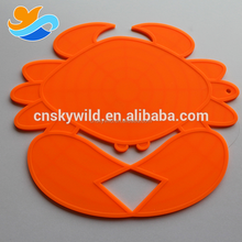 Crab Shape Silicone Rubber Cup Place Mat Hot Pad Coaster