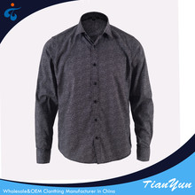 Men's small print long sleeve pictures of formal shirts men