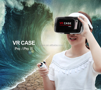 Best google cardboard virtual reality glasses 3d vr headset Vr case pro for smartphone with bluetooth remote control