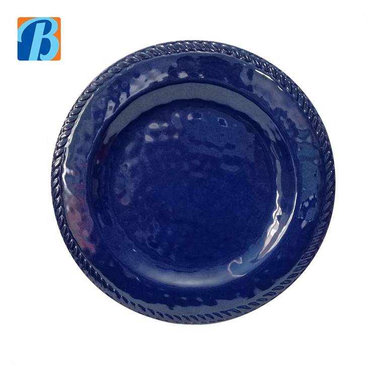 Newly beautiful solid design round cheap melamine salad plate