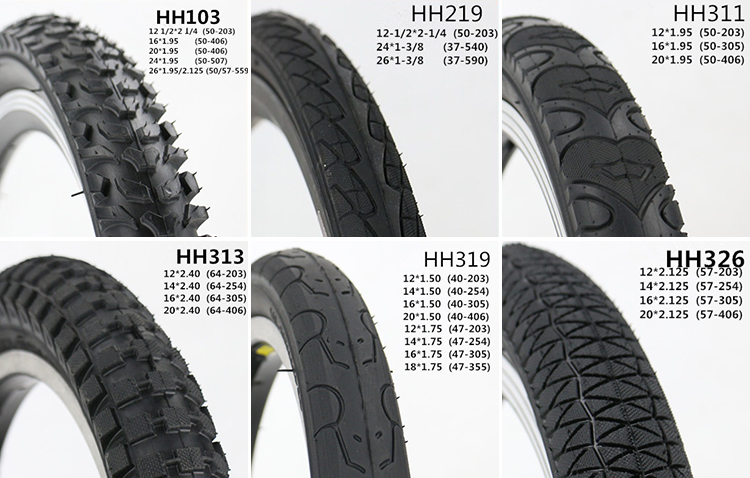 cheapest price with high quality rubber mountain bike tyre china factory good bicycle tire12*1.95