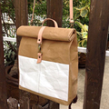 lightweight and eco friendly travel bag kraft paper roll top backpack
