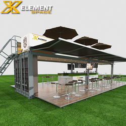 40FT container coffee bar design, POP-UP Mobile shipping container coffee shop for sale