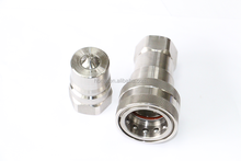 Poppet valves hydraulic quick release coupling, stainless steel quick coupler