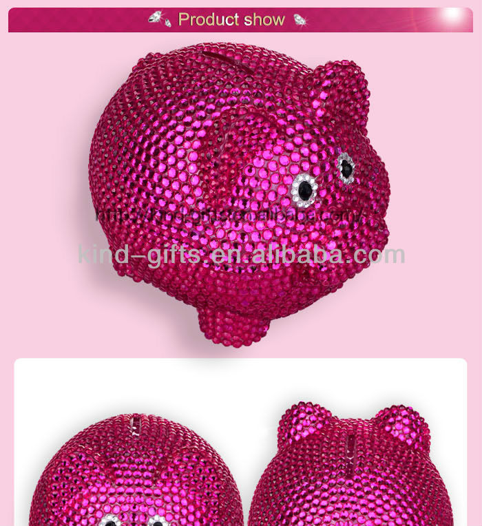 Top Selling Bling Crystal Rhinestone Gifts Money Bank| Money Drop Box Manufactory|Factory|Exporter