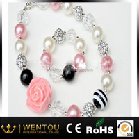 bubblegum beautiful color chunky bead necklace for little girl