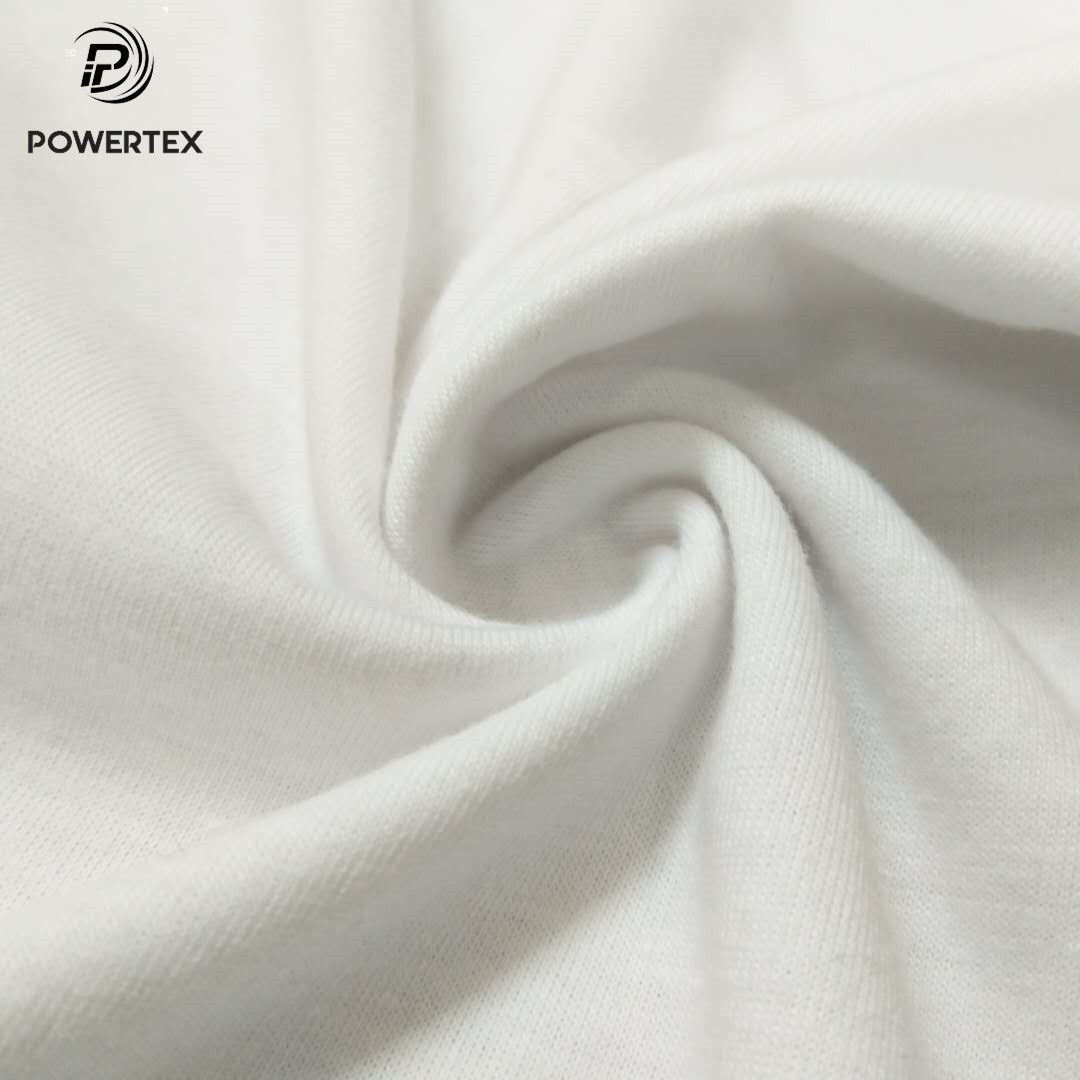 Hot Sale 100% Cotton Knitted White Single Jersey Fabric for Underwear
