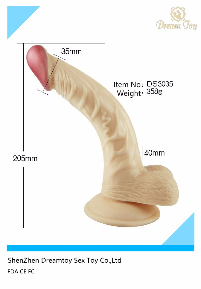 Factory price skin safe liquid silicon dildo fake rubber artificial penis