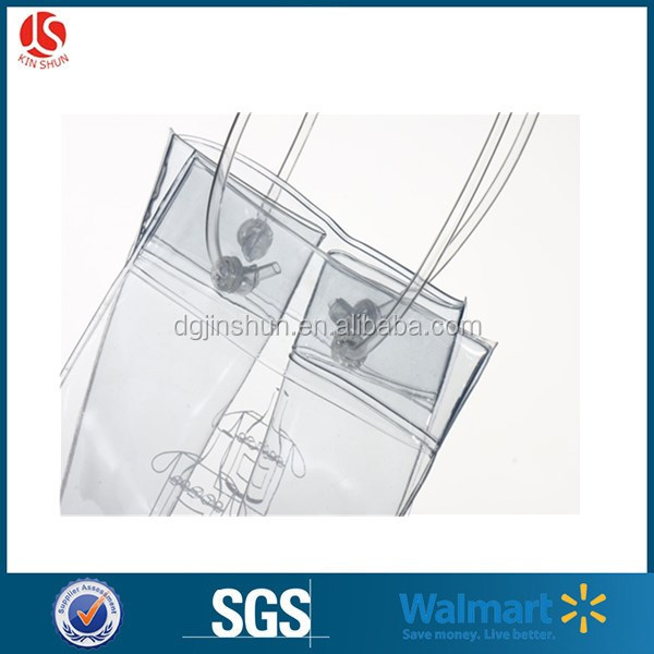Clear PVC Clear / Printed Wine Ice Cooler Bag for Beer / Wine