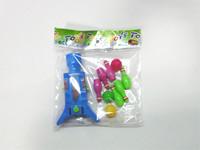 Plastic toy shooting gun mini bowling ping pong ball gun set educational products