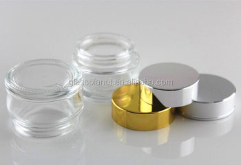 10g Jar 10ml Jar Glass Cosmetic Sample Storage Container For Make Up Eye Shadow Creams Lip Balm Lotions