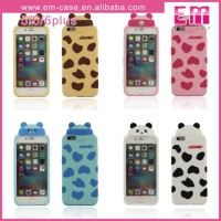 Lovely Animal Milk Bottle Rubber Case For iPhone 5/6/6 Plus Mobile Silicon Phone Case