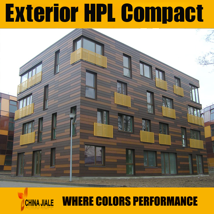 8mm fundermax hpl exterior wall panels for building for Exterior wall construction materials