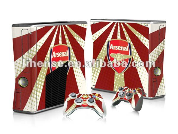 NEW!!! game console Skins sticker for xbox360 slim from factory