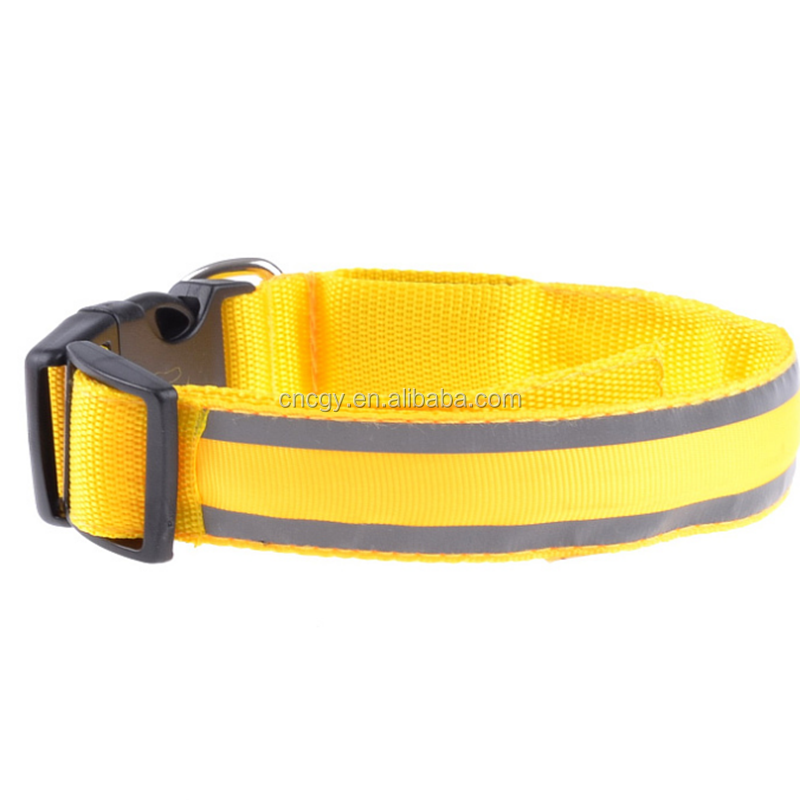 New Design Lovely Factory Popular Nylon Dog Collar For Pet LED Cat Collar