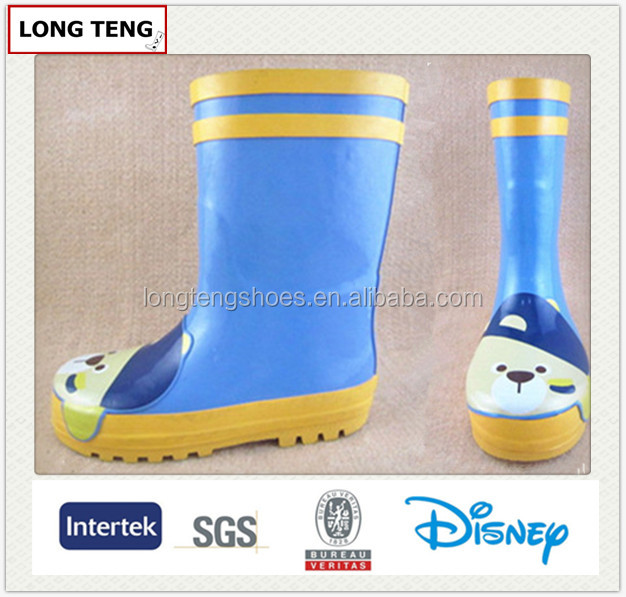 2014 dog printing rubber boots for boys
