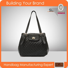 S024 Black Female Handbags Latest Model PU Quality bag Factory Directly Price