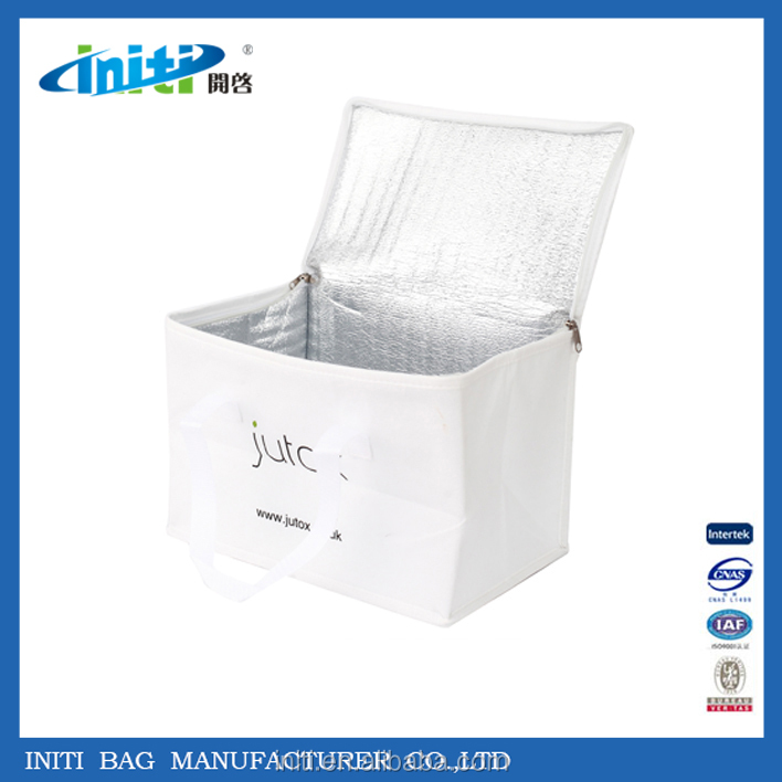 2015 Promotional Non Woven Material 6 bottle wine cooler bag