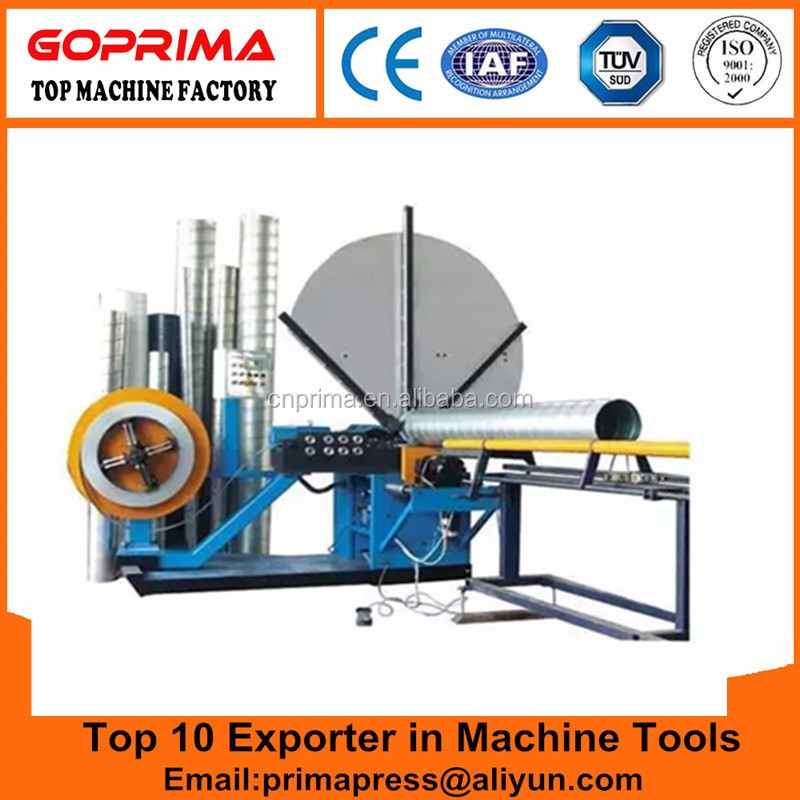 Most popular top quality Ventilation duct Spiral pipe forming machine price