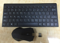 Inexpensive Single Area slim 2.4Ghz wireless keyboard and mouse combo
