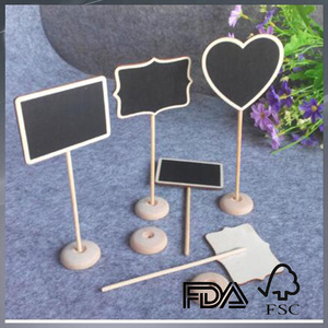 custom mini cute chalkboard small blackboard with stand decoration