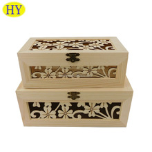FSC Wholesale Unfinished Natural Custom Wooden Craft Box