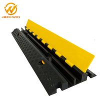 Black Rubber Cable Ramp 2 Channel Cord Covers /Cable Trench Cover