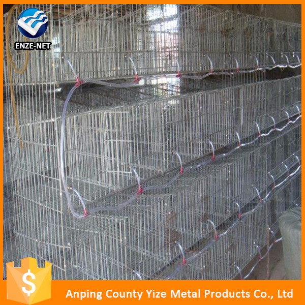 commercial type metal wire welded layer rabbit cage /stackable rabbit cages