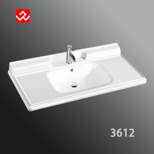 Mounted above cabinet midding counter basin for bathroom