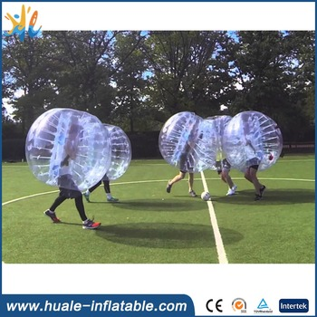 Big size half color adult bumper ball inflatable soccer bubble ball for sale