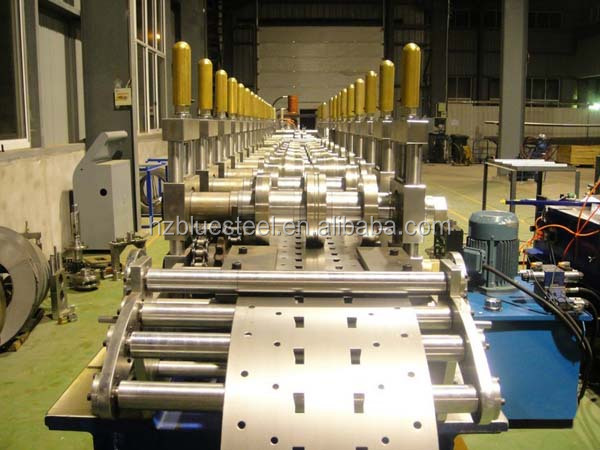 Metal Steel Omega Profile Sheet Roll Forming Machine, Steel Storage Rack Cold Roll Forming Machine