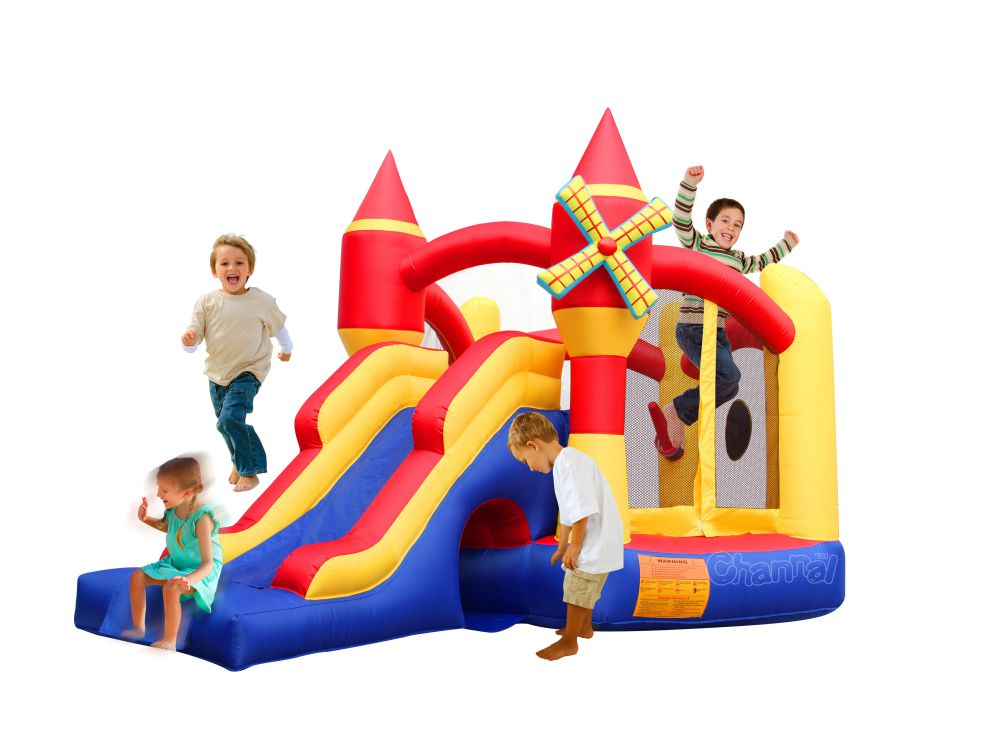 Pentagon Shaped Kingdom Inflatable Castle/indoor mini nylon inflatable bouncer for kids