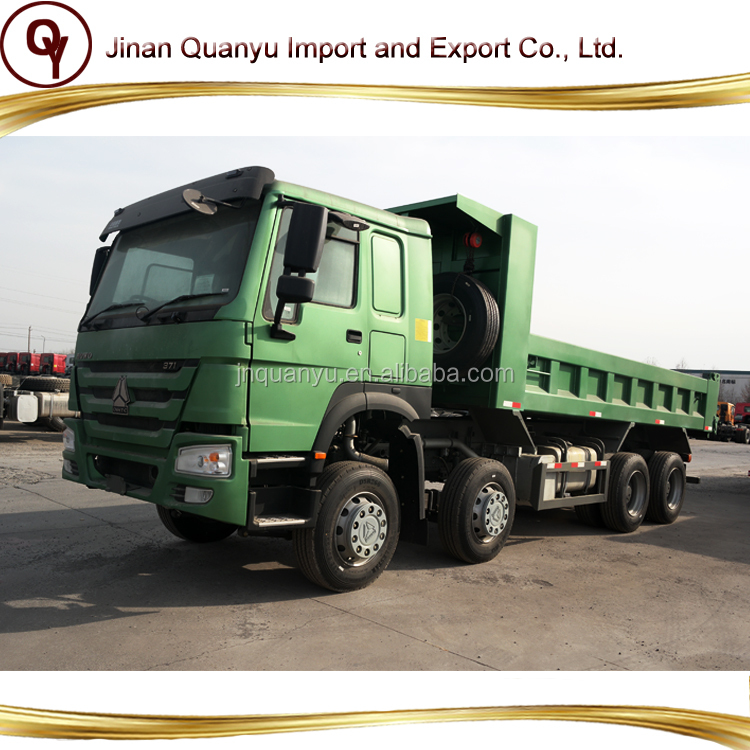 Sinotruk 371HP Howo 8x4 dump truck 12 tires 40ton sand tipper truck for sale