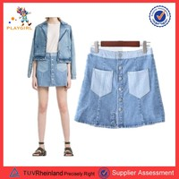 PGWC-3450 2017 new design Cheap jean women skirt wholesale
