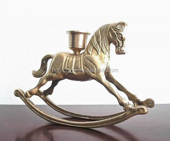 hot sale high quality custom made horse candle holder