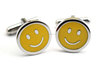Classic Stainless Steel Baby Face Smiling Emoji Cufflink For Men