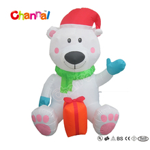 100% Polyester 120cm High Festival Decoration Inflatable Polar Bear for Kids