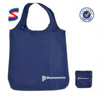 Foldable Tote Bag With Snap Closure Foldable Advertising Bag