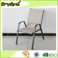 Promotional cheap metal stacking dining furniture sling garden chair