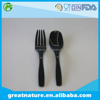 Hard Plastic Spoon and fork, Disposable Tableware set