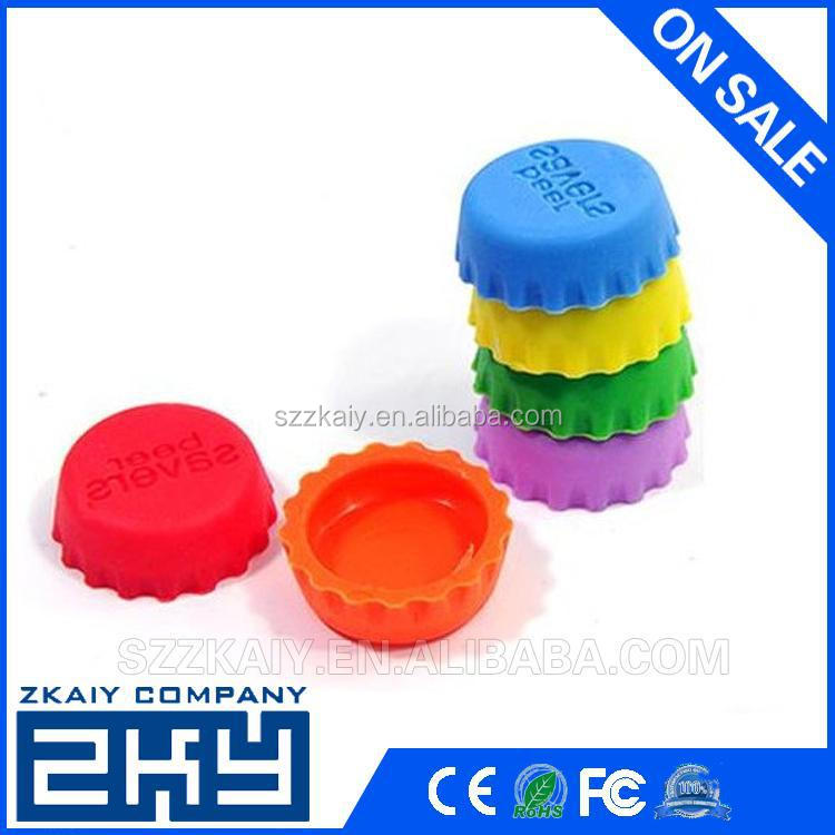 SZZKAIY-0084 Promotion Silicone Bottle Caps Custom Logo Silicone Beer Covers, the Silicone Bottle Stoppers With Your Branding