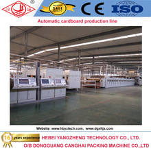 Fully automatic 3 & 5 & 7 Ply Corrugated cardboard making machine single facer machine