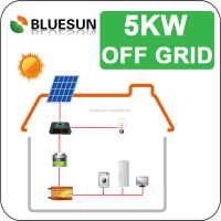 Best price home use complete 5kw off-grid solar power system